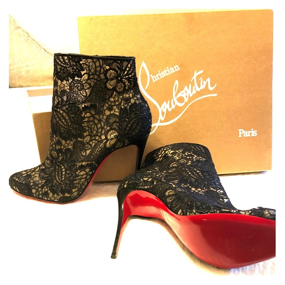 df405c01f84 Christian Louboutin Shoes - Christian Louboutin Miss Tennis Net Lace Bootie